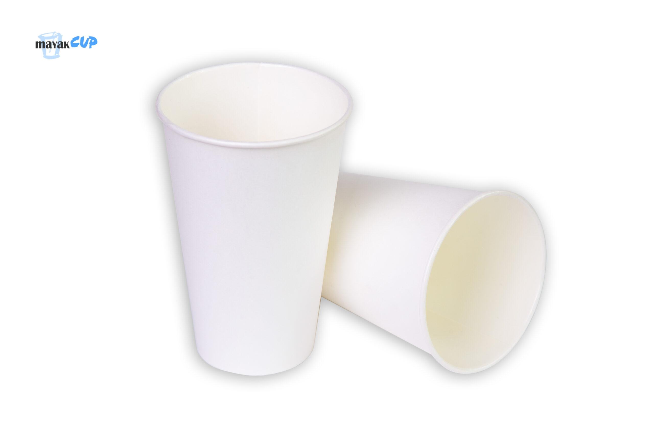 Бумажный стакан 330 мл «Белый» 253 г/м2
