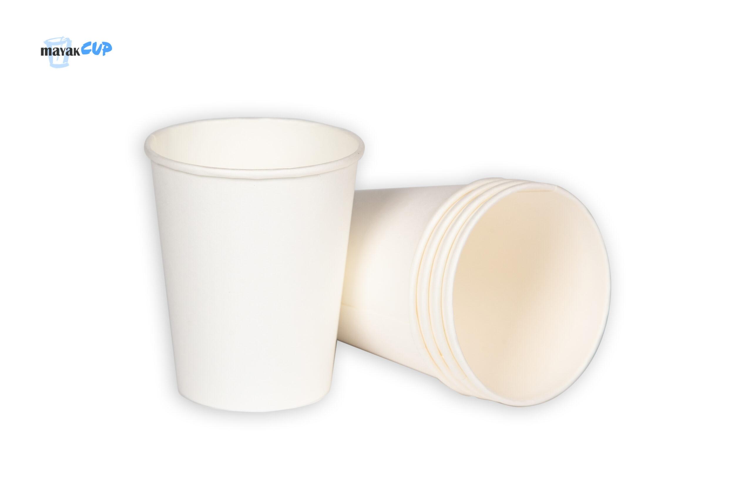 Бумажный стакан 260 мл «Белый» 234 г/м2