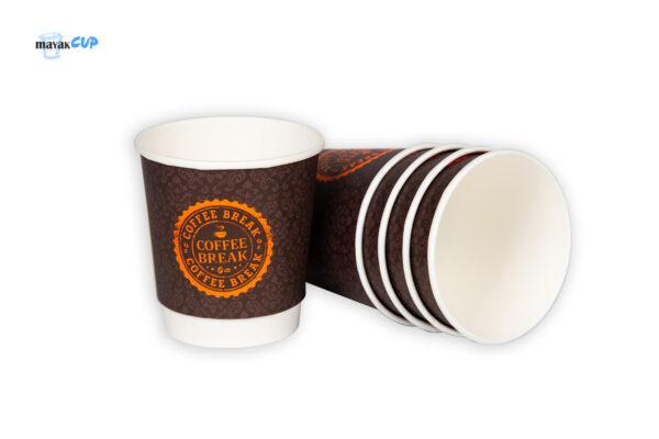 "Paper CUP 11oz ""Coffee Break dark"" Double-layer"