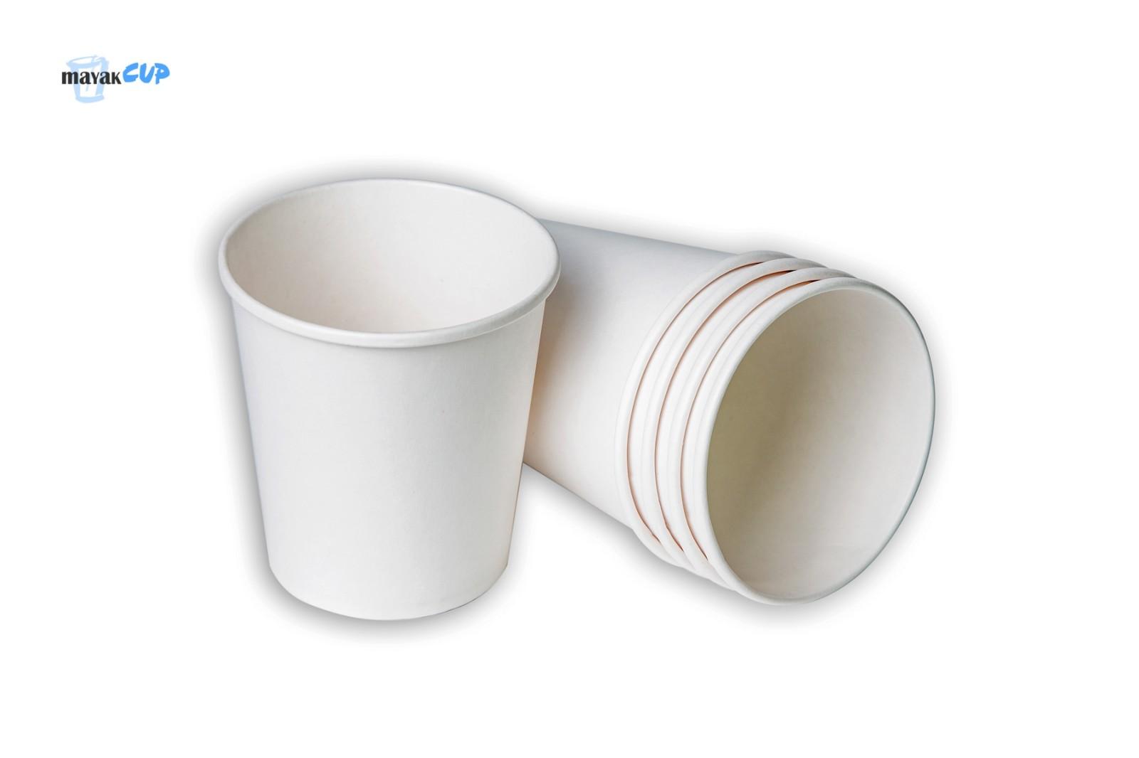 Бумажный стакан 285 мл «Белый» 253 г/м2