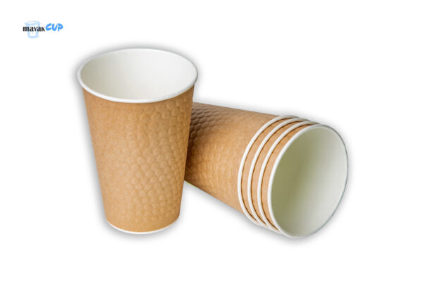 "Paper CUP 12oz Bubble ""Craft"" Double-layer"