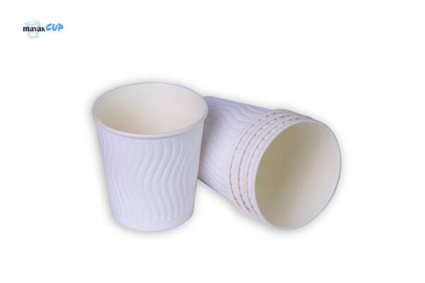 """Двухслойный стакан """"Волна white"""" 285 мл"""
