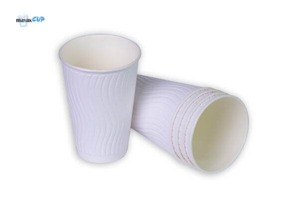 """Paper CUPS """"Wave white"""" 425 ml"""