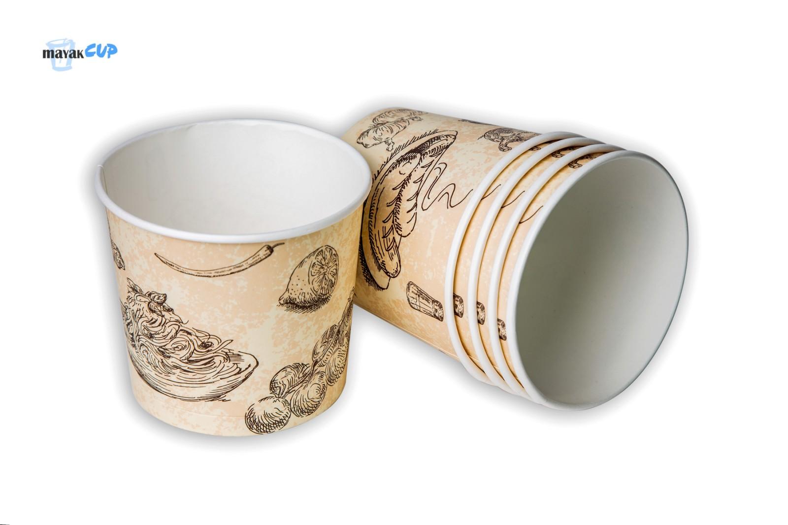 """Паперовий стакан-супниця 610 мл """"Суп"""" 224 г/м2"""