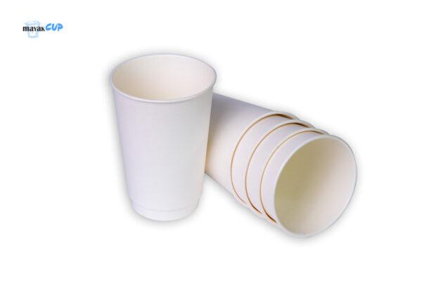 "Двухслойный бумажный стакан 330 мл ""Белый"""