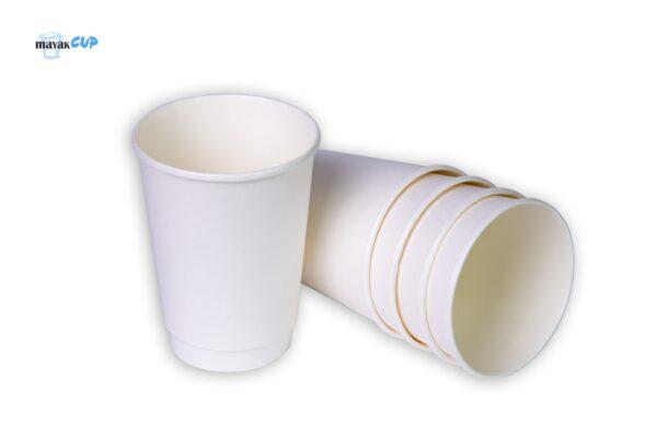 """Двухслойный стакан """"Белый"""" 425 мл"""