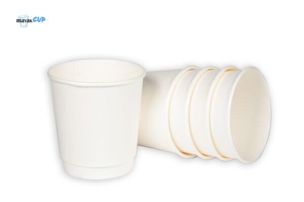 "Паперовий стаканчик двошаровий ""Білий"" 285 мл"