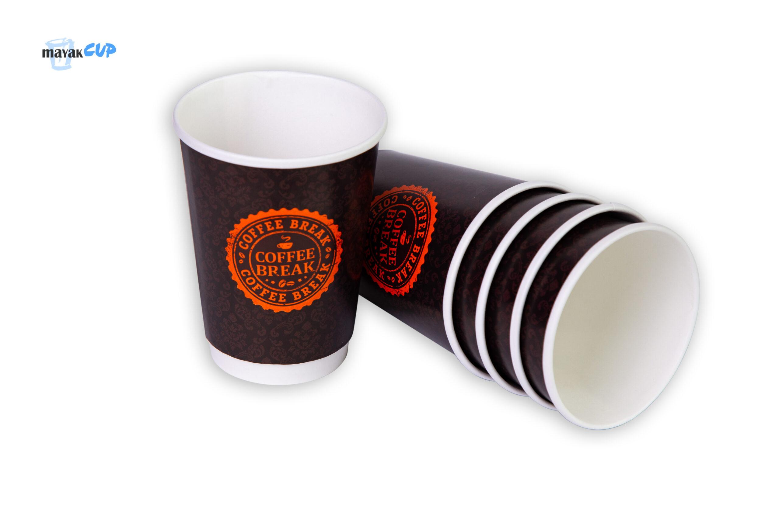 """Паперовий стакан двошаровий """"Coffee Break"""" 425 мл"""