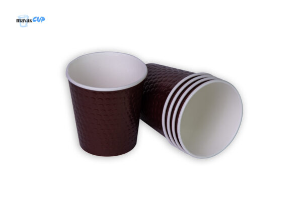 """Двухслойный стакан """"Bubble brown"""" 285 мл"""