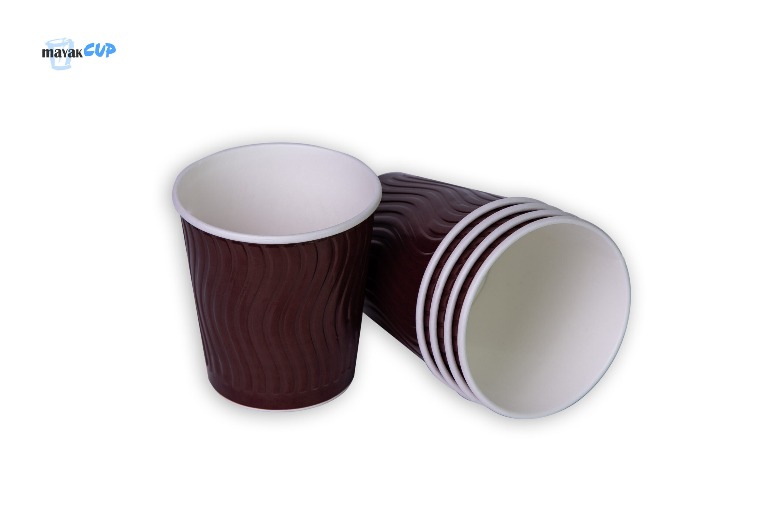 """Paper CUPS 11oz """"Wave brown"""" 285 ml"""