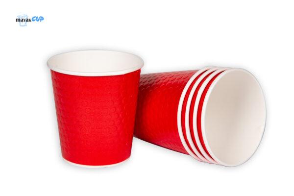 """Двухслойный стакан """"Bubble red"""" 285 мл"""