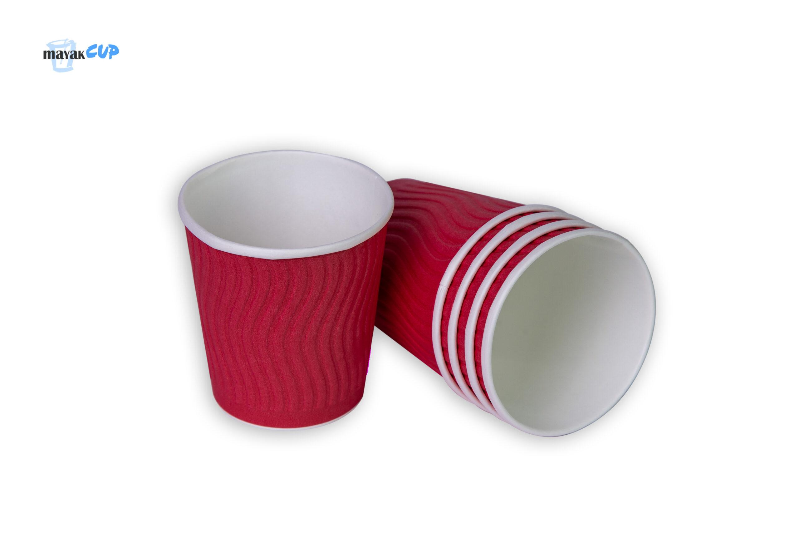 """Двошаровий стакан """"Bubble червоний"""" 285 мл"""