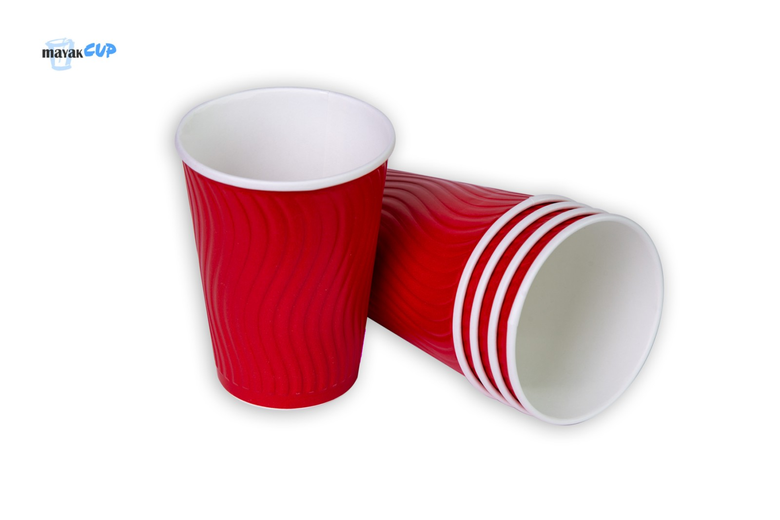 Двухслойный стакан «Волна red» 425 мл