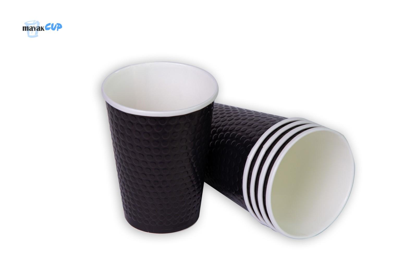 Двухслойный стакан «Bubble black» 425 мл
