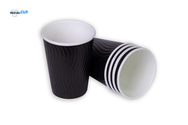 "Двухслойный стакан ""Волна black"" 425 мл"