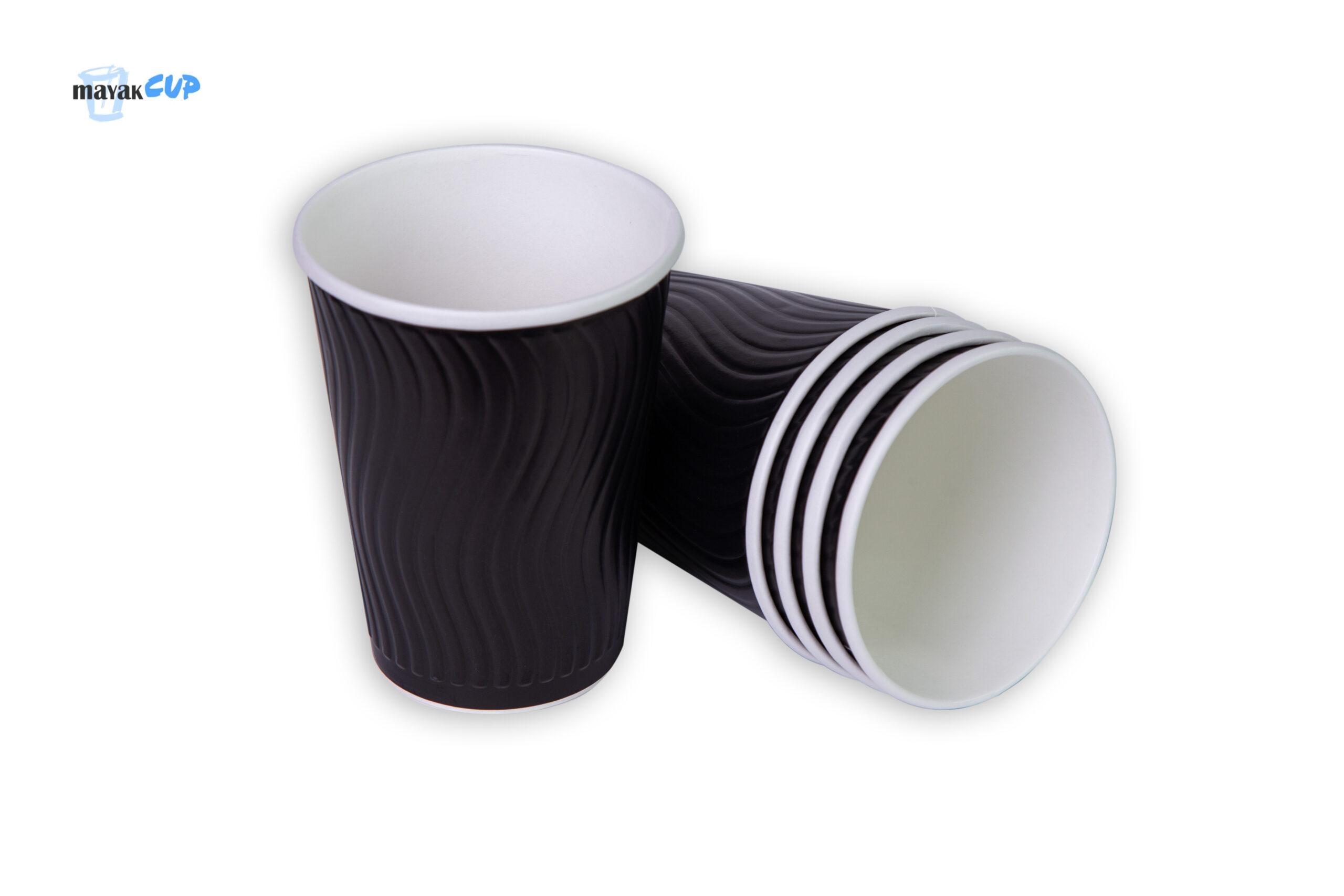 Двухслойный стакан «Волна black» 425 мл