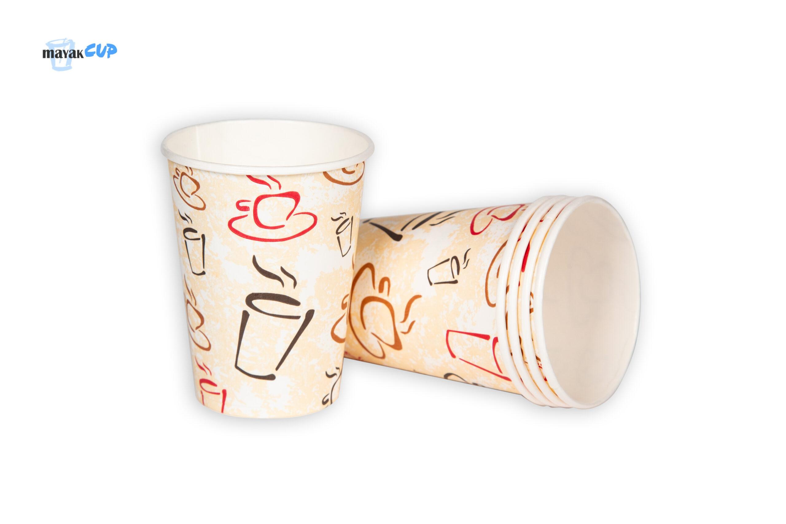 Бумажный стакан 175 мл «Чашки» 212 г/м2