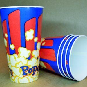"""Паперовий стакан для попкорну 780 мл """"Попкорн синій"""" 224 г/м2"""