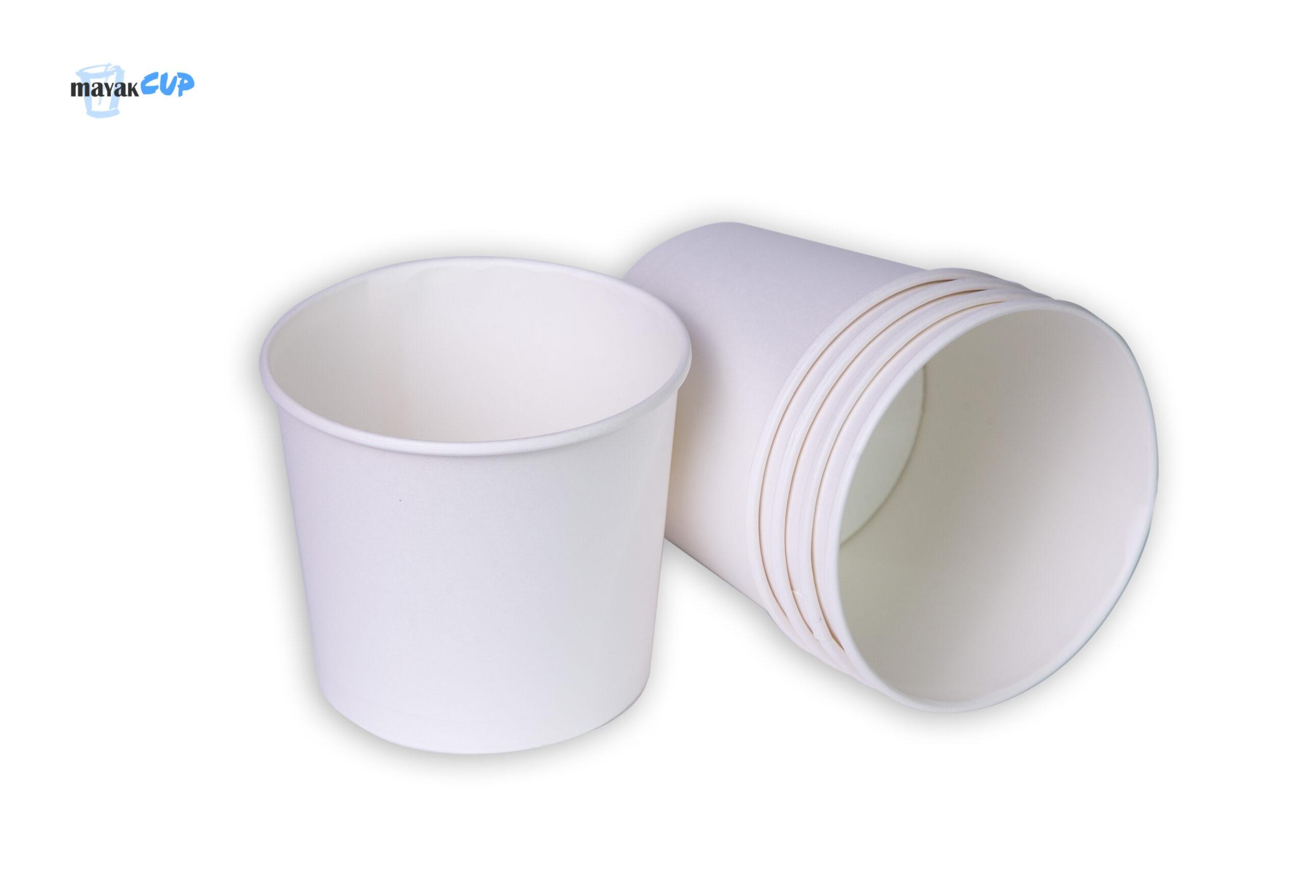 Картонный стакан-супница 610 мл «Белый» 224 г/м2