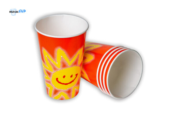 """Paper CUP 16oz """"Red sun"""""""